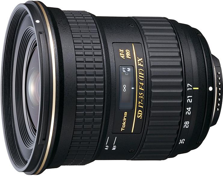 Объектив Tokina AT-X 17-35mm Pro FX F4.0 N/AF-D для Nikon, Black