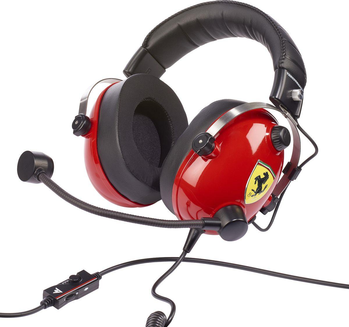 Игровая гарнитура Thrustmaster THR91 T.Racing Scuderia Ferrari Edition для Xbox One, PS4, Nintendo Switch, 3DS, PC, красный