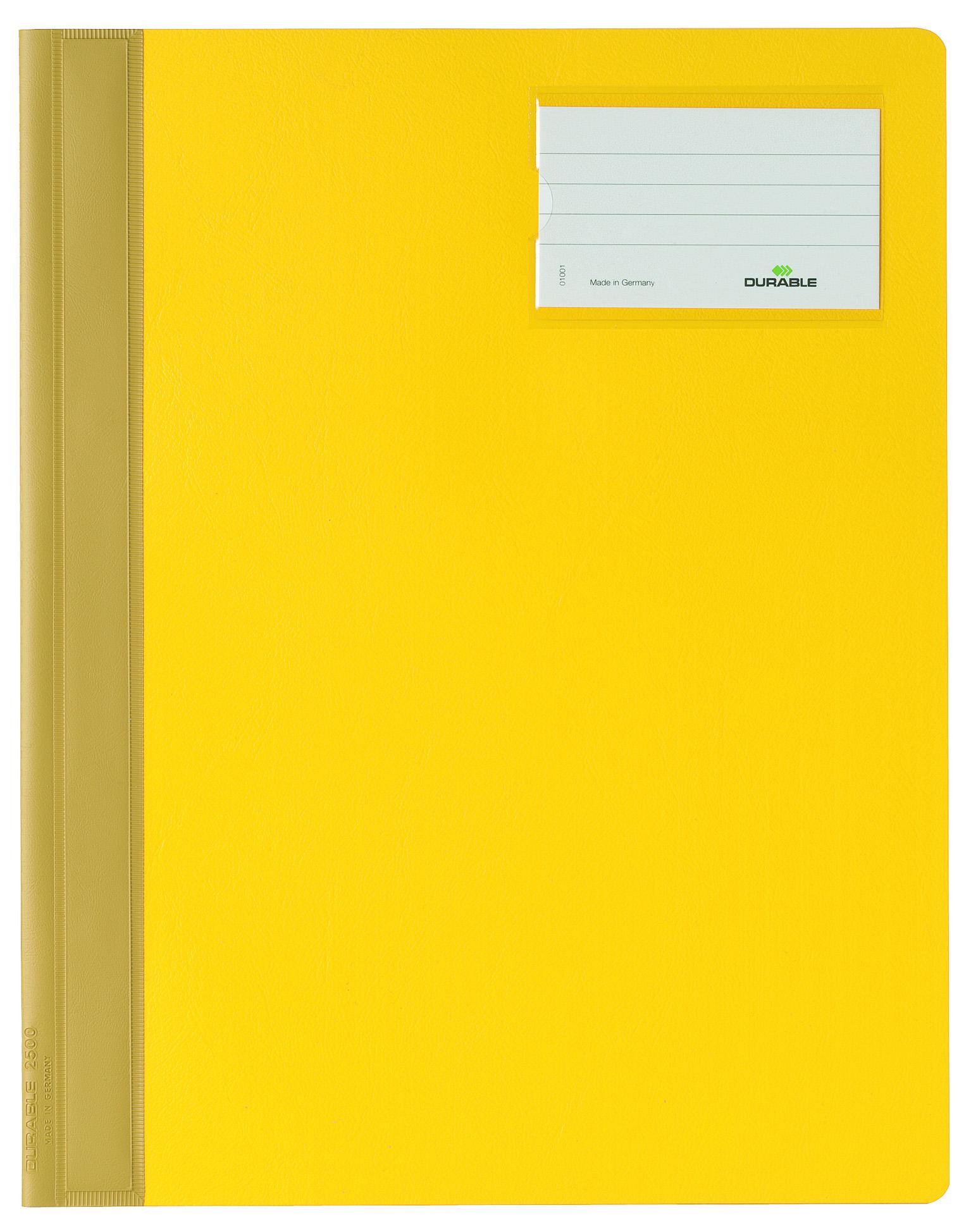 Папка Durable Management File скоросшиватель, инфо-окно, 2500-04, желтый папка скоросшиватель durable 2500 02 формат a4 с карманом на лицевой стороне цвет белый