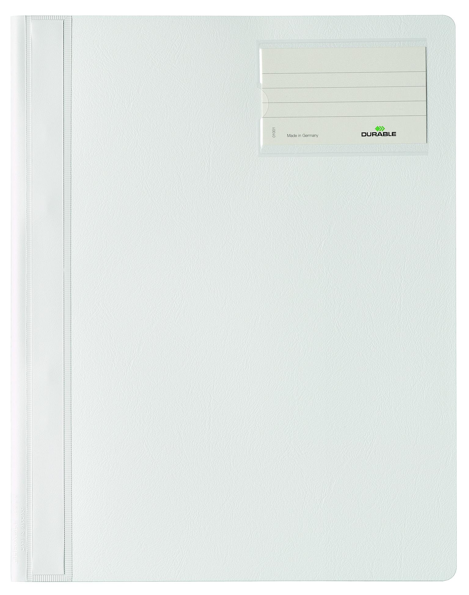 Папка Durable Management File скоросшиватель, инфо-окно, 2500-02, белый цена и фото