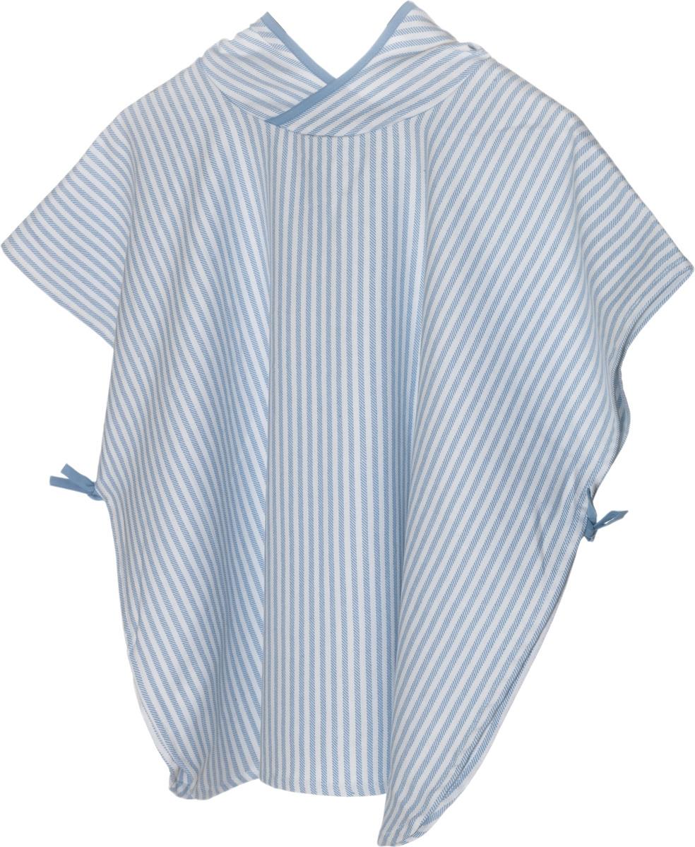 Полотенце детское KipKep Blenker Poncho, 474, с капюшоном, голубой, 68 х 55 см пончо olaian детское пляжное пончо sweet рост 125–150 см