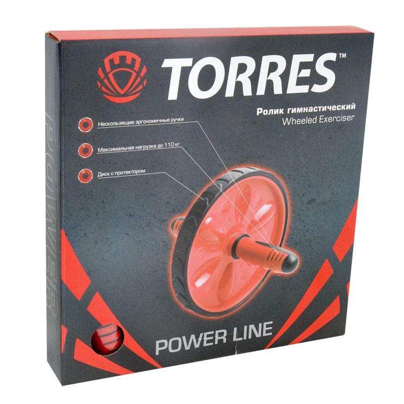 Ролик гимнастический Torres, PL5012, красный TORRES