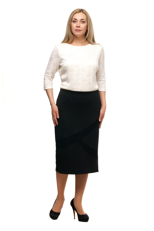 Юбка жен. Olsi цвет: черный 1814005 р. (52)1814005 Юбка (р.52)Классическая юбка