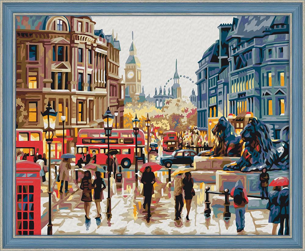 """Картина по номерам Мосфа """"Осень в Лондоне"""" 7С-0017, 21 цвет, 40см*50см"""