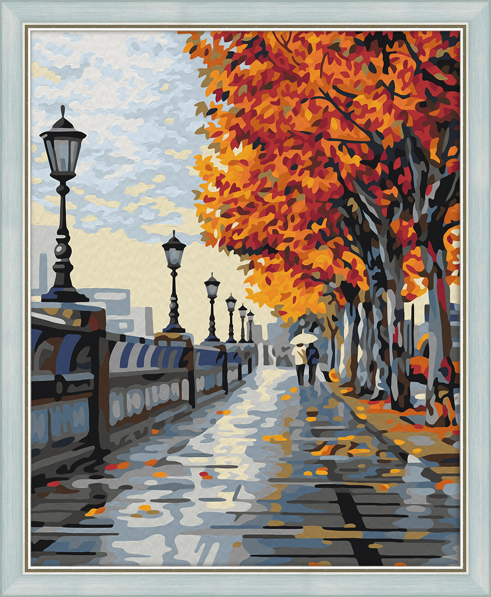Набор для рисования по номерам Мосфа Осенняя прогулка, 40 х 50 см