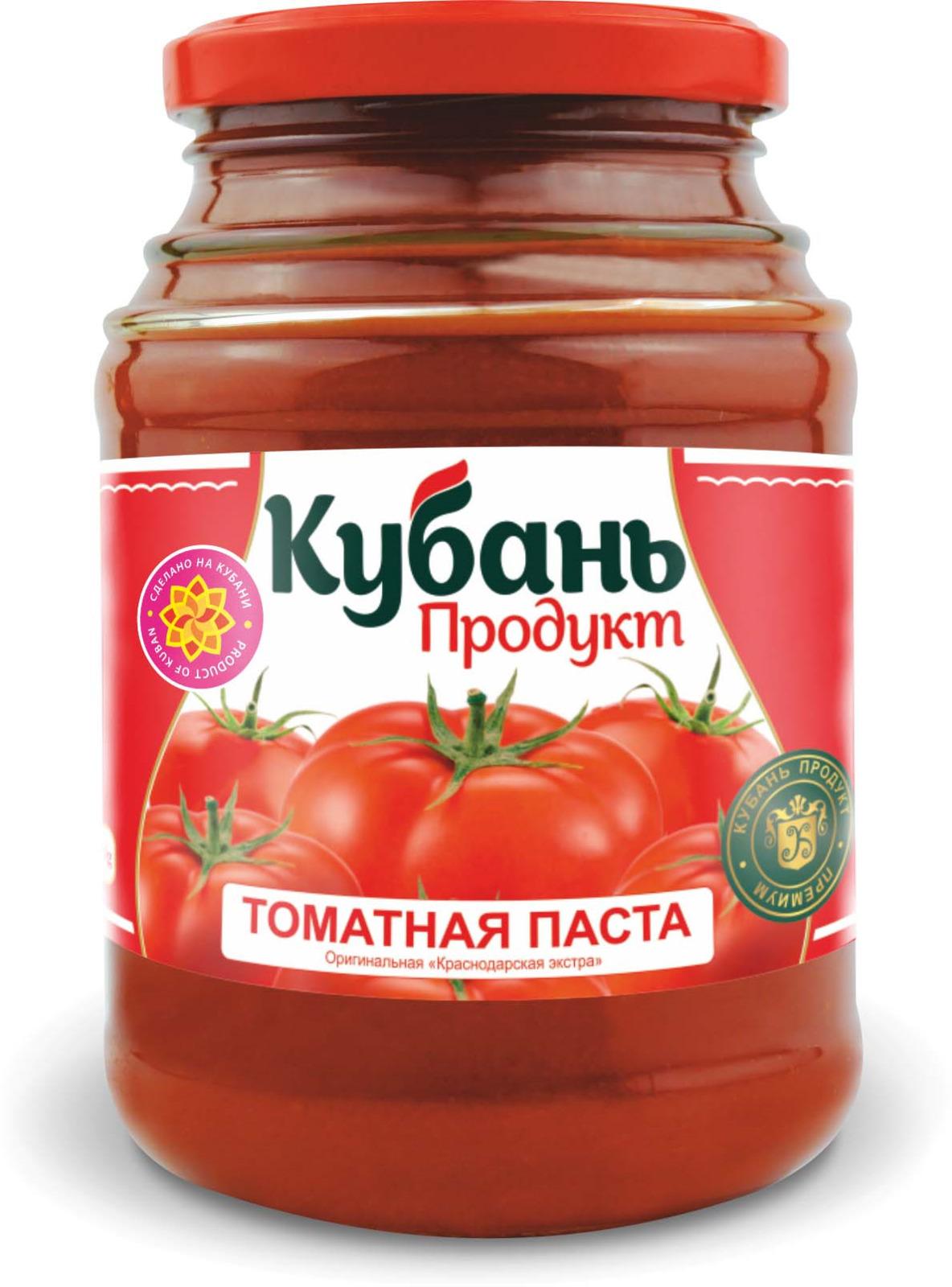 Кубань Продукт паста томатная, 280 г кубань продукт компот вишневый 1 л