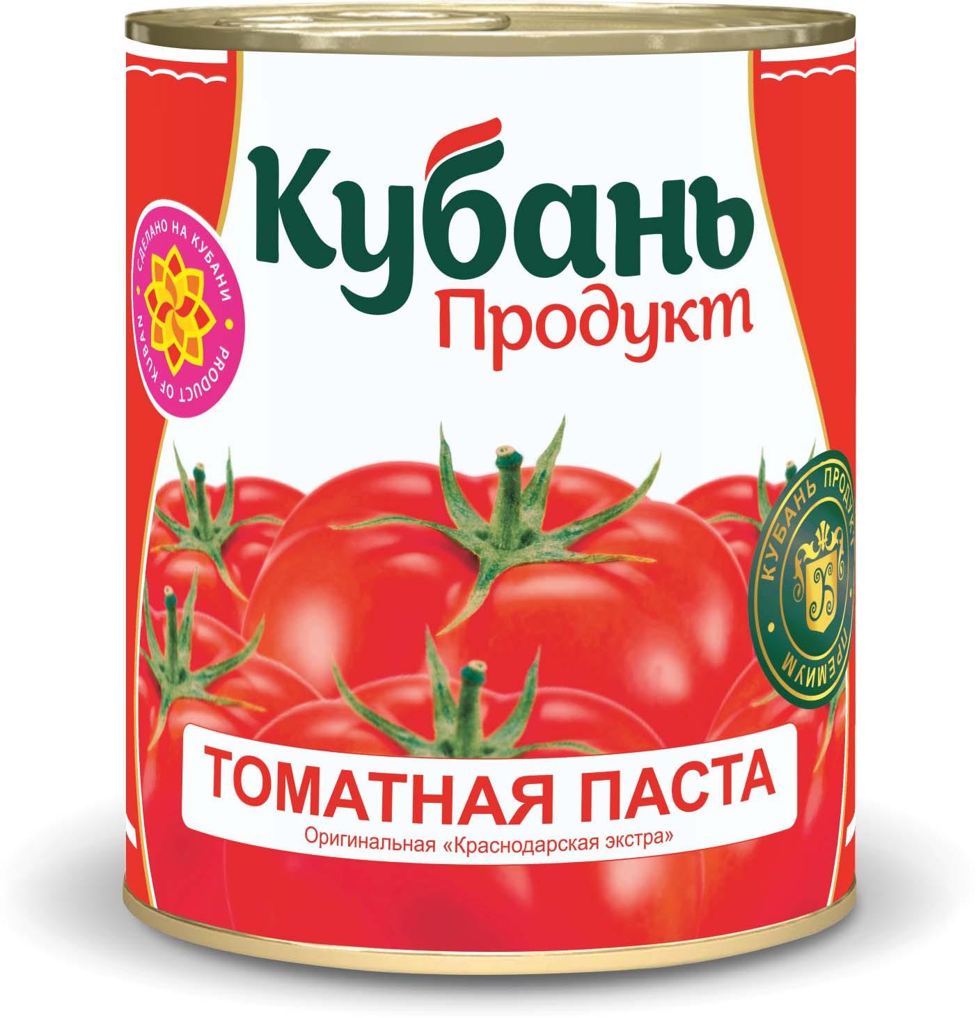 Кубань Продукт паста томатная, 380 г кубань продукт компот вишневый 1 л