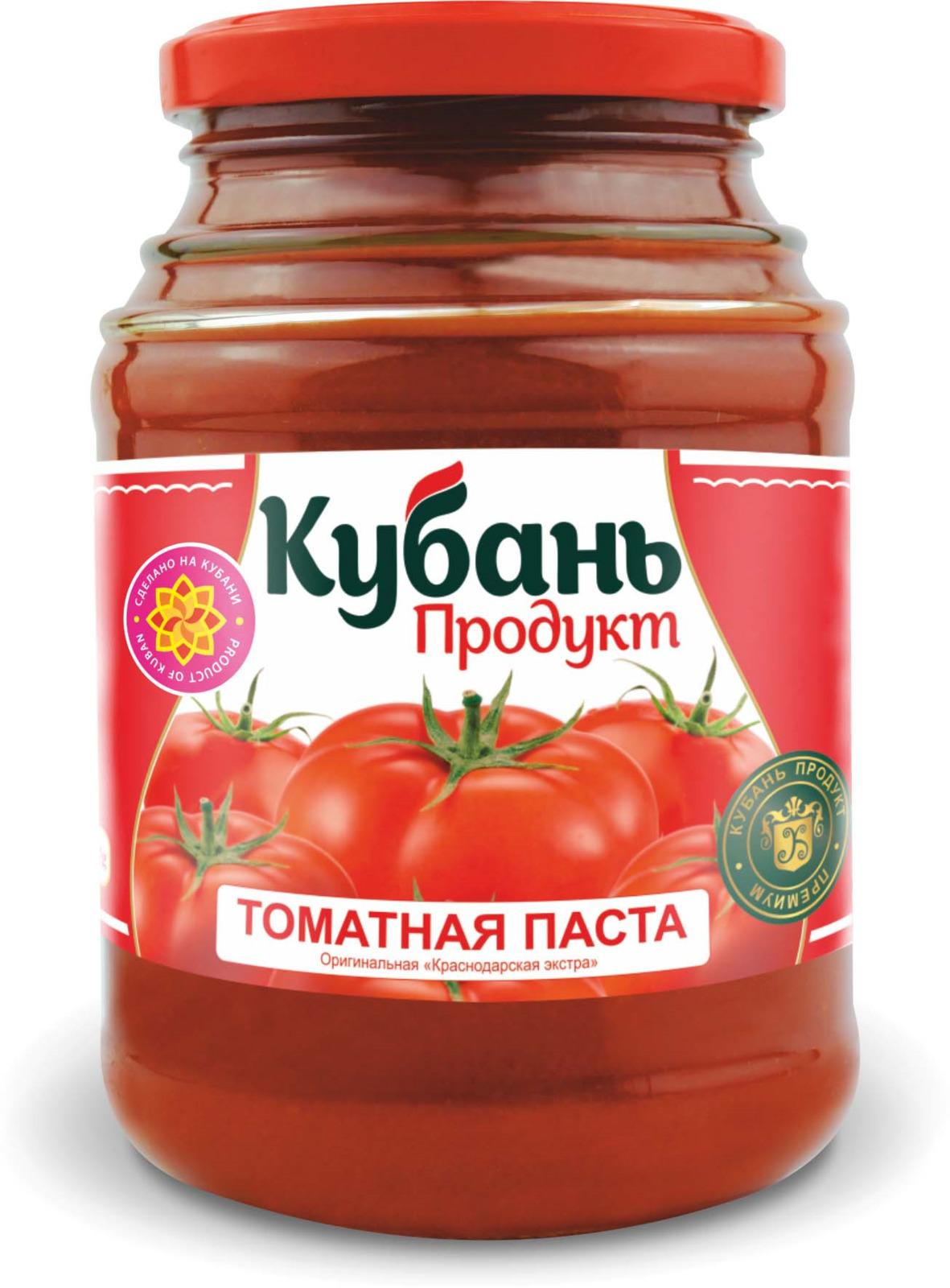 Кубань Продукт паста томатная, 500 г кубань продукт компот вишневый 1 л