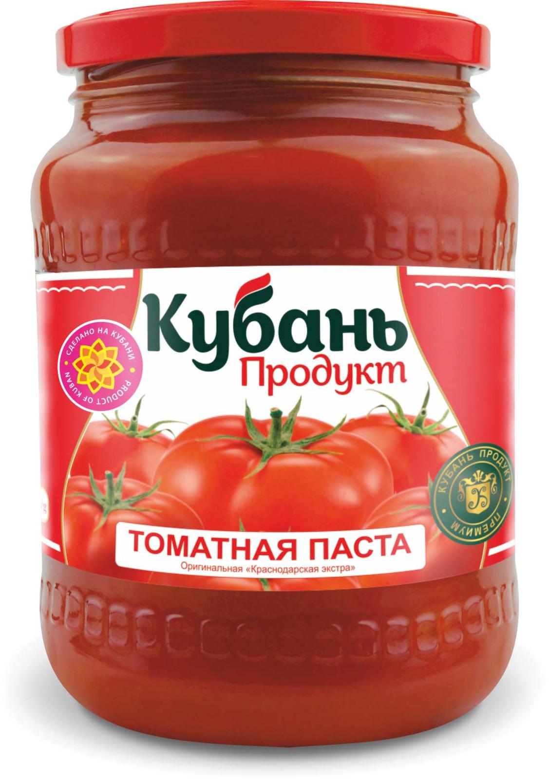 Кубань Продукт паста томатная, 720 г кубань продукт компот вишневый 1 л