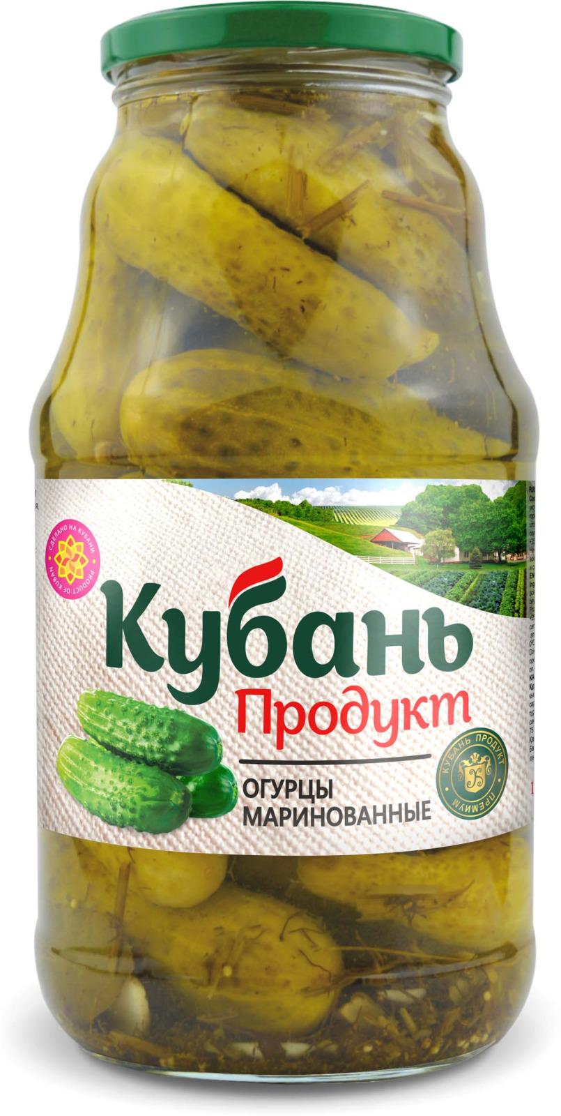 Кубань Продукт огурцы маринованные, 1,8 кг кубань продукт компот вишневый 1 л