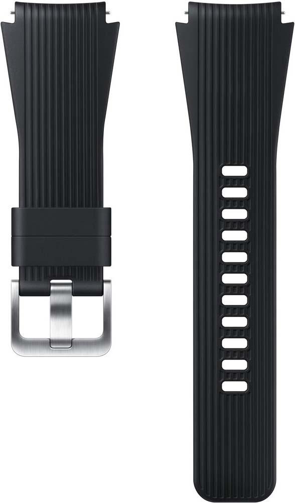 Ремешок для смарт-часов Samsung для Galaxy Watch 46мм/Gear S3, черный смарт часы samsung galaxy gear s3 frontier sm r760 1 3 титан матовый черный [sm r760ndaaser]