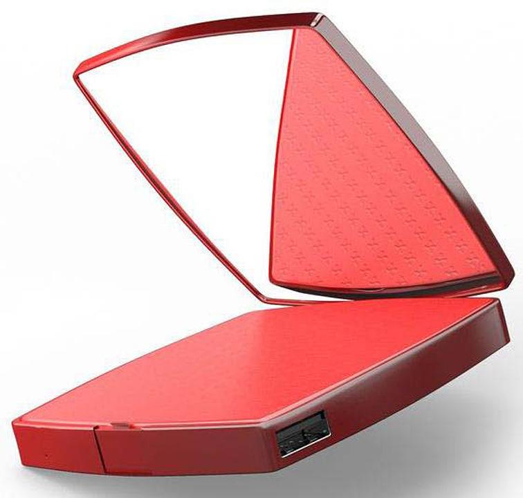 Внешний аккумулятор HIPER MIRROR-4000, 4000 мАч, red аккумулятор red line r 4000 power bank 4000mah grey stone ут000009485