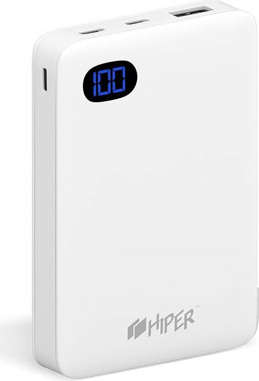 Внешний аккумулятор HIPER SN10000, 10000 мАч, белый внутренний аккумулятор 15000 мач hiper rp15000 белый