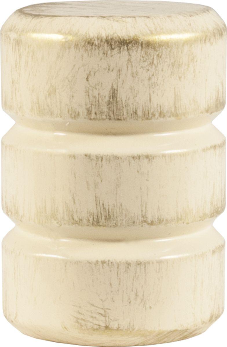 Наконечник для карниза Уют Цилиндр-2 26.21ТО.0294, ваниль, золото, диаметр 25 см, 2 шт26.21ТО.0294Форма наконечников может отличаться изысканностью и стать дополнительным украшением окна. Самым популярным вариантом остается круглый наконечник, но можно приобрести изделия с завитками, с цветочным мотивом, в виде веера, пики или ромба.