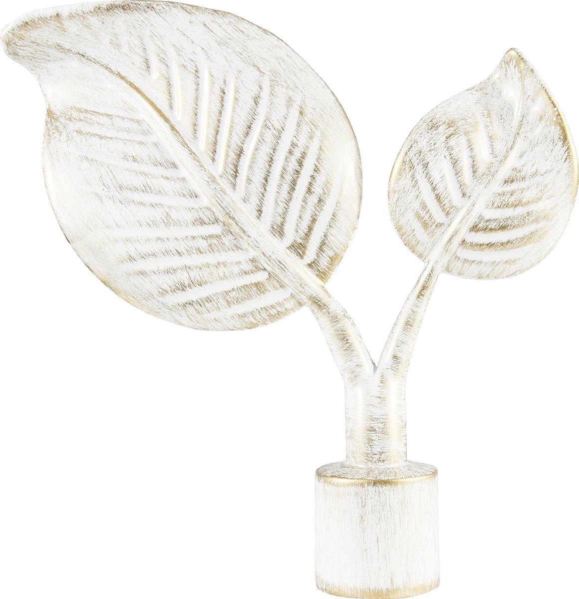 """Наконечник для карниза Уют """"Вяз"""" 26.21ТО.4495, белый, золото, диаметр 25 см, 2 шт"""
