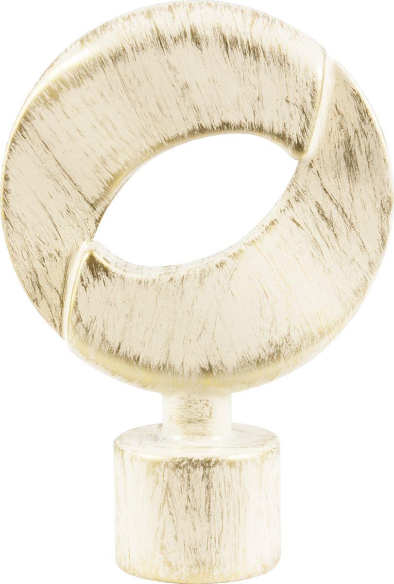 Наконечник для карниза Уют Мебиус 22.21ТО.3394, ваниль, золото, диаметр 20 см, 2 шт22.21ТО.3394Форма наконечников может отличаться изысканностью и стать дополнительным украшением окна. Самым популярным вариантом остается круглый наконечник, но можно приобрести изделия с завитками, с цветочным мотивом, в виде веера, пики или ромба.