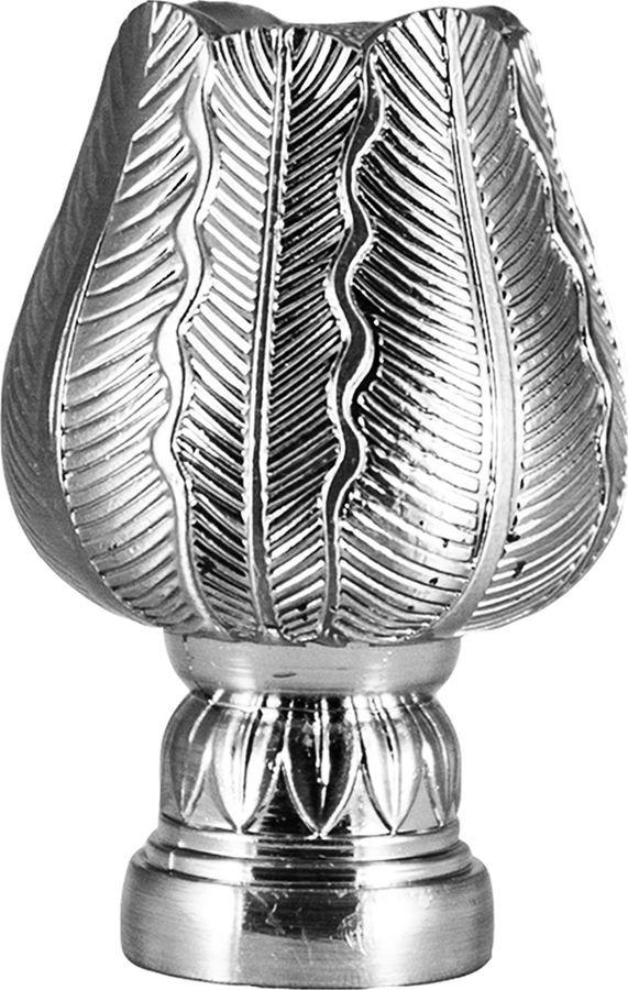 """Наконечник для карниза Уют """"Тюльпан"""" 26.21ТО.5109, хром, диаметр 25 см, 2 шт"""