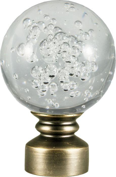 "Наконечник для карниза Уют ""Шар Гелий"" 26.21ТО.3070, бронза, диаметр 25 см, 2 шт"