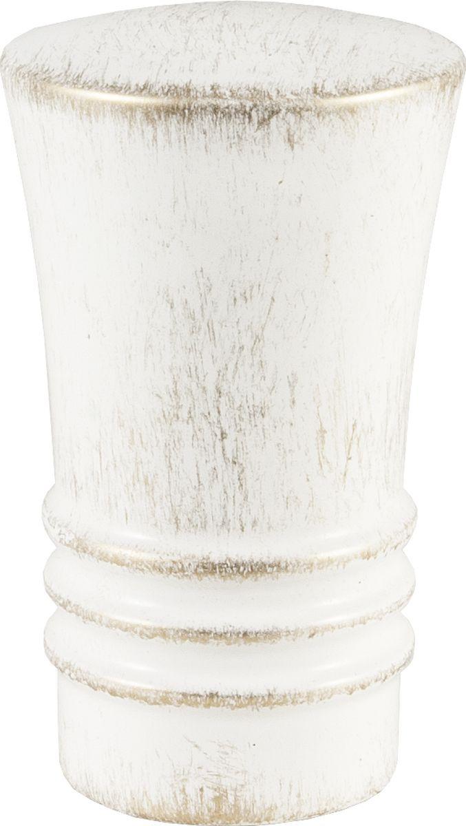 Наконечник для карниза Уют Гиро 22.21ТО.2295, белый, золото, диаметр 20 см, 2 шт22.21ТО.2295Форма наконечников может отличаться изысканностью и стать дополнительным украшением окна. Самым популярным вариантом остается круглый наконечник, но можно приобрести изделия с завитками, с цветочным мотивом, в виде веера, пики или ромба.