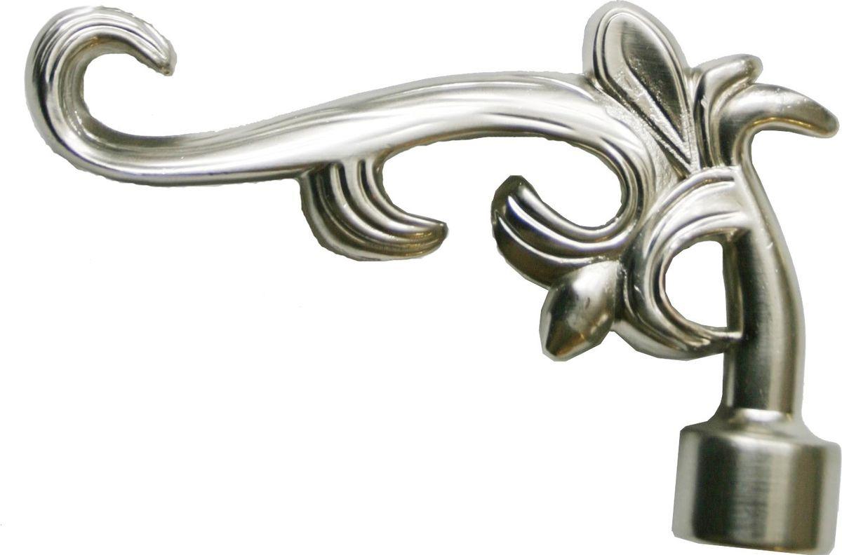 """Наконечник для карниза Уют """"Лиана"""" 26.21ТО.5308, сталь, диаметр 25 см, 2 шт"""