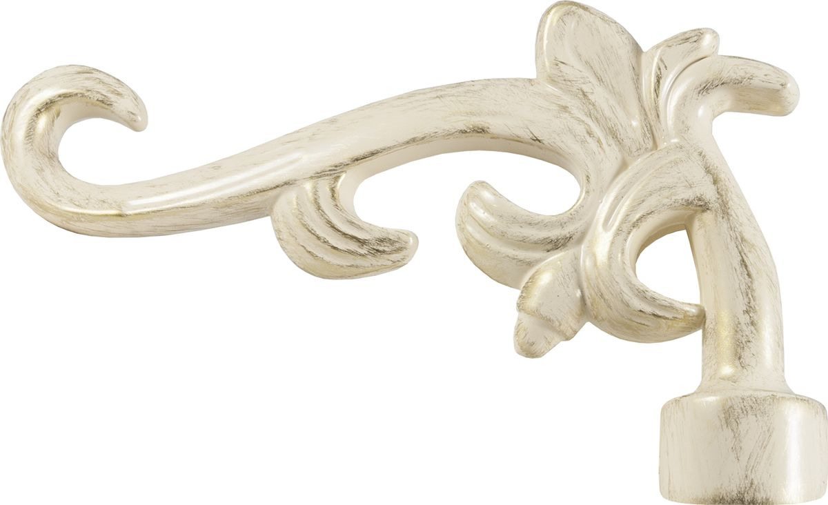 """Наконечник для карниза Уют """"Лиана"""" 26.21ТО.5394, ваниль, золото, диаметр 25 см, 2 шт"""
