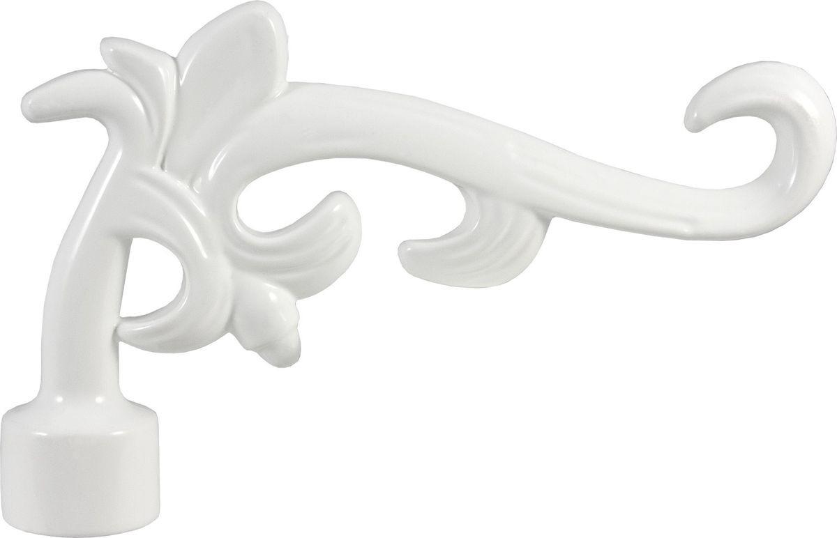 """Наконечник для карниза Уют """"Лиана"""" 26.21ТО.5304, белый, диаметр 25 см, 2 шт"""