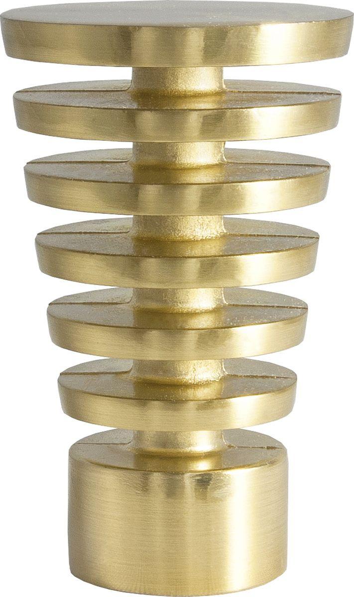 Наконечник для карниза Уют Конус Скан 22.21ТО.2300, латунь, диаметр 20 см, 2 шт наконечник для карниза уют конус скан 26 21то 2302 шоколад диаметр 25 см 2 шт