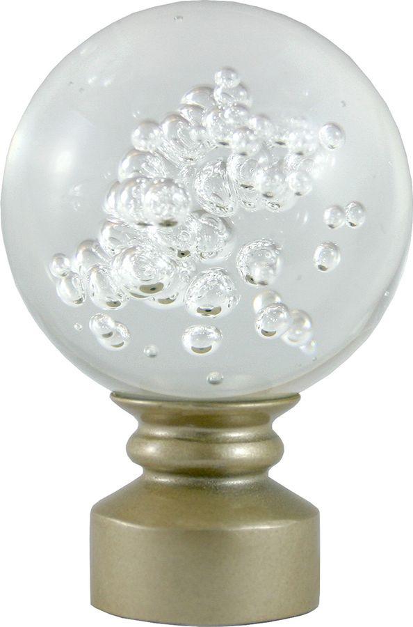 Наконечник для карниза Уют Шар Гелий 26.21ТО.3021, шампань, диаметр 25 см, 2 шт наконечник для карниза уют цилиндр 2 26 21то 0221 шампань диаметр 25 см 2 шт