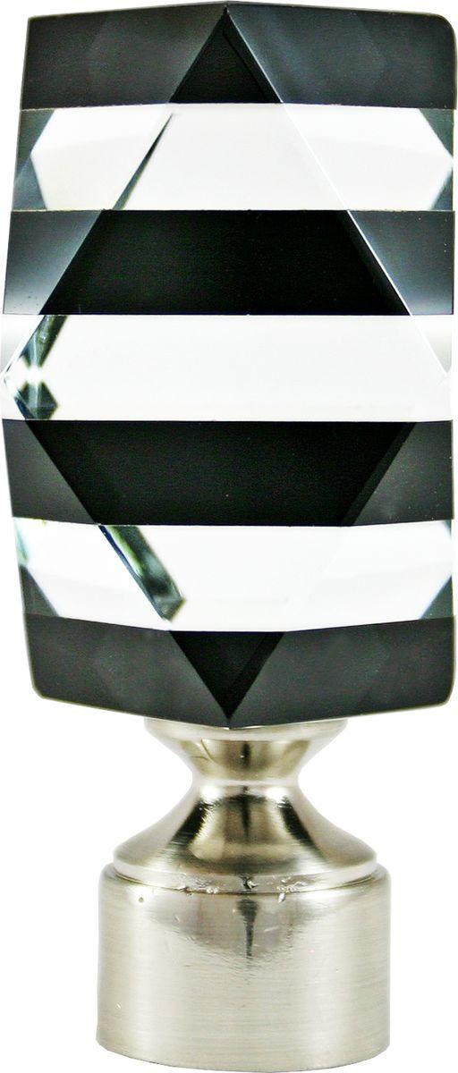 """Наконечник для карниза Уют """"Карамель"""" 26.21ТО.3409, хром, диаметр 25 см, 2 шт"""