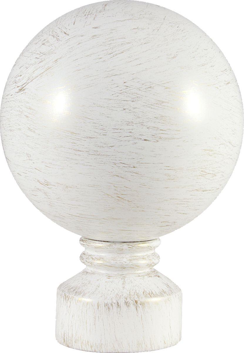 """Наконечник для карниза Уют """"Шар"""" 26.21ТО.0795, белый, золото, диаметр 25 см, 2 шт"""