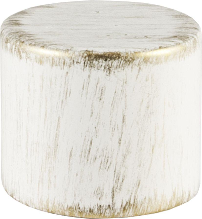 """Наконечник для карниза Уют """"Цилиндр """" 22.21ТО.0195, белый, золото, диаметр 20 см, 2 шт"""