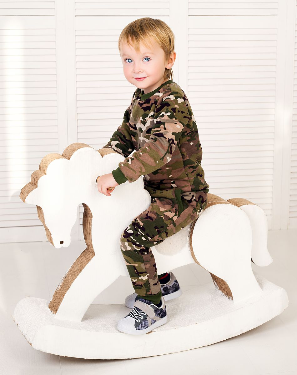 Толстовка Веселый малыш Камуфляж толстовка для мальчика веселый малыш камуфляж цвет хаки 164 140 саф размер 110