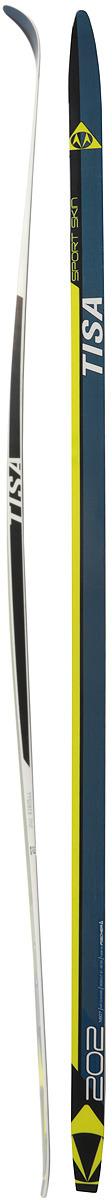 Лыжи беговые Tisa Sport Skin, цвет: черный, рост 202 см цена