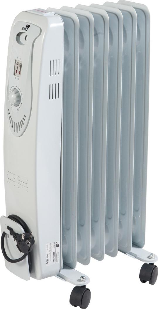 Масляный радиатор WWQ RM01-1507, серый недорго, оригинальная цена