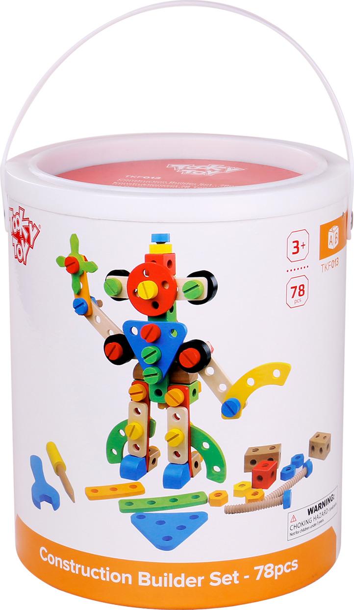 """Конструктор деревянный Tooky Toy """"Робот"""", TKF013"""