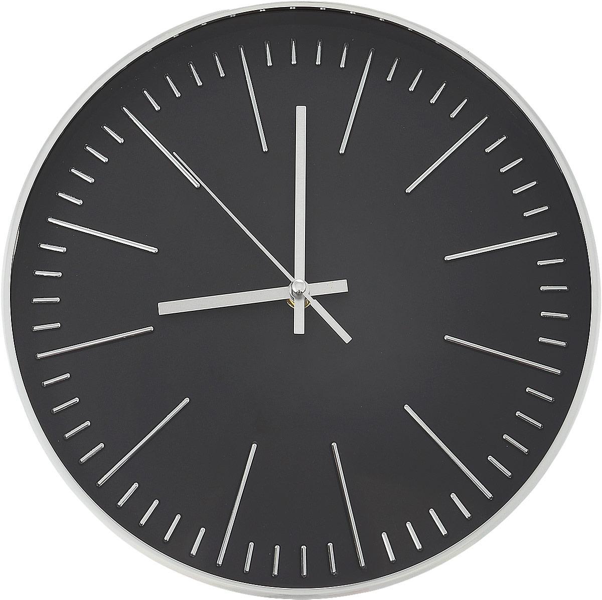 Часы настенные Innova, цвет: серебристый, черный, диаметр 30 см. W09644 часы настенные innova w09656 цвет белый диаметр 35 см