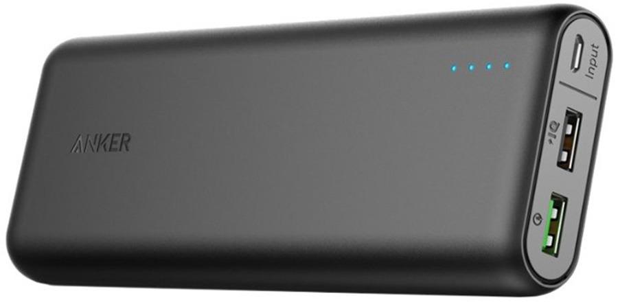 Внешний аккумулятор Anker PowerCore+ 20000, A1272H11, Black внешний аккумулятор anker powercore 26800 a1374h11 черный