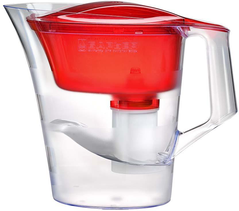Фильтр-кувшин Барьер Твист, В173Р00, красный фильтр кувшин для воды барьер твист для детей 4