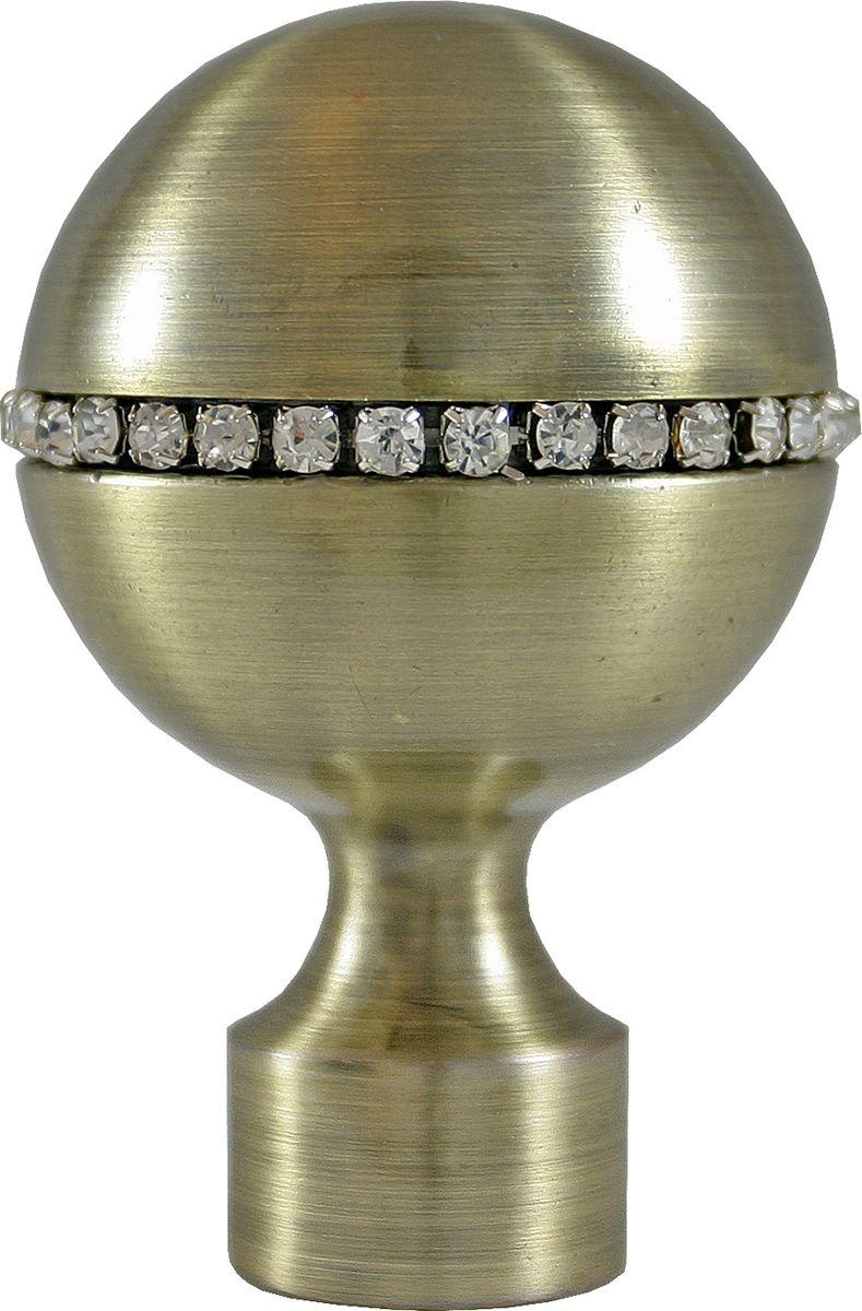 "Наконечник для карниза Уют ""Шар со стразами"" 26.21ТО.3170, бронза, диаметр 25 см, 2 шт"