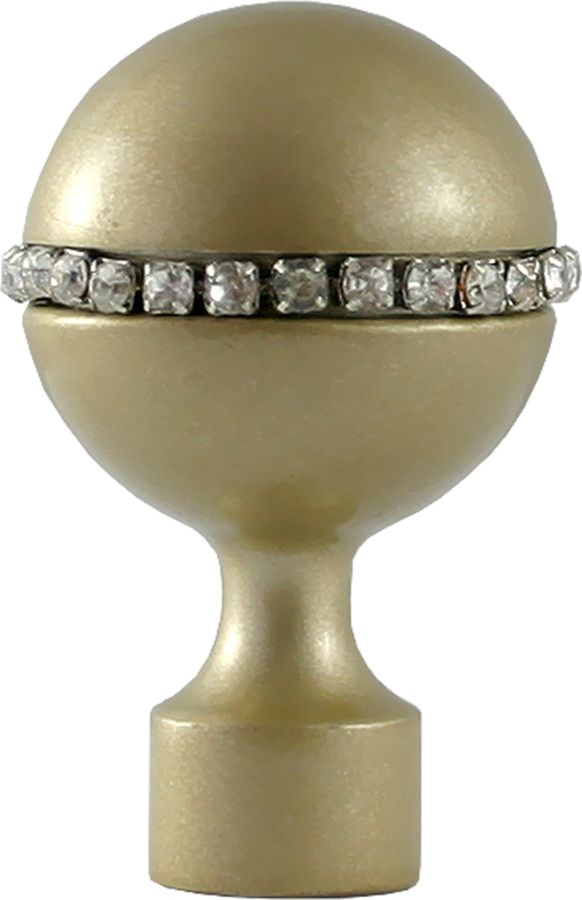 Наконечник для карниза Уют Шар со стразами 26.21ТО.3121, шампань, диаметр 25 см, 2 шт наконечник для карниза уют цилиндр 2 26 21то 0221 шампань диаметр 25 см 2 шт