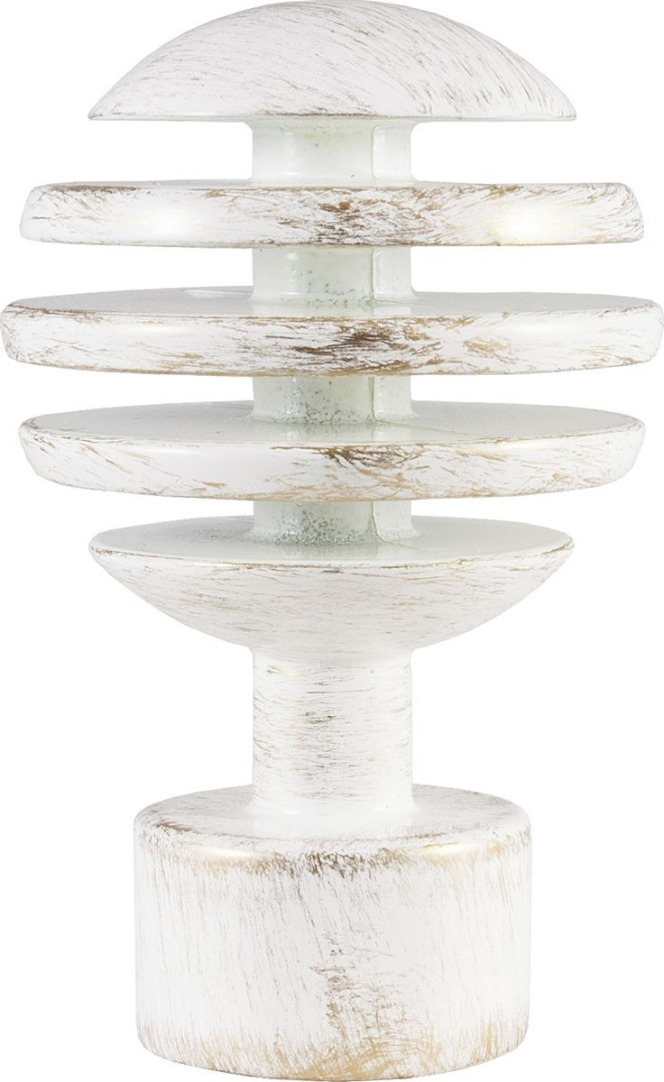 """Наконечник для карниза Уют """"Шар Скан"""" 26.21ТО.2995, белый, золото, диаметр 25 см, 2 шт"""