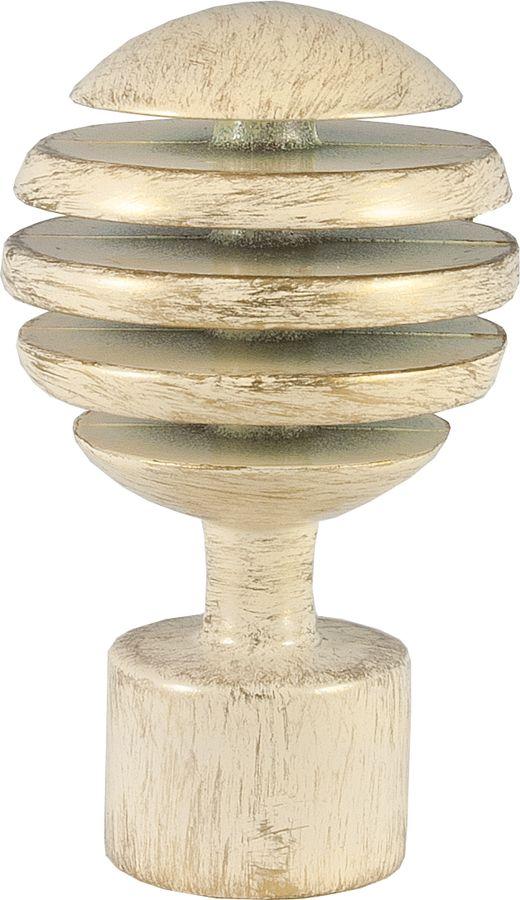 """Наконечник для карниза Уют """"Шар Скан"""" 26.21ТО.2994, ваниль, золото, диаметр 25 см, 2 шт"""