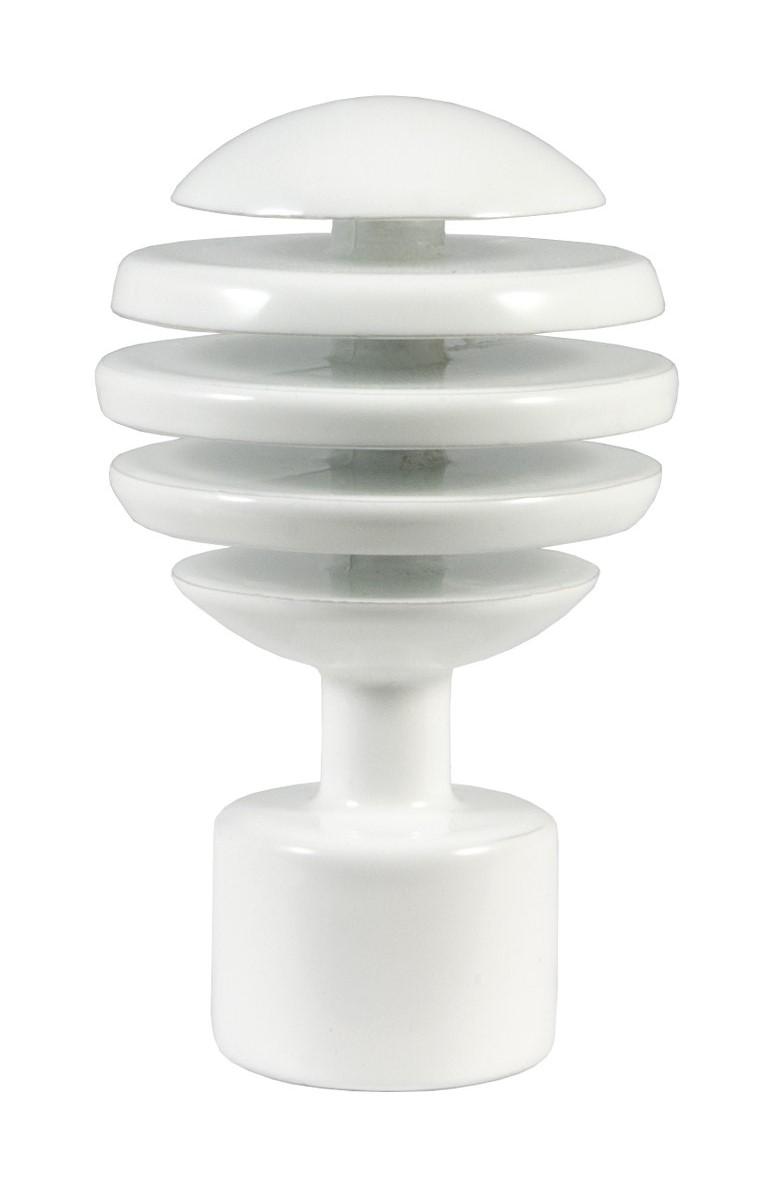 "Наконечник для карниза Уют ""Шар Скан"" 26.21ТО.2904, белый, диаметр 25 см, 2 шт"