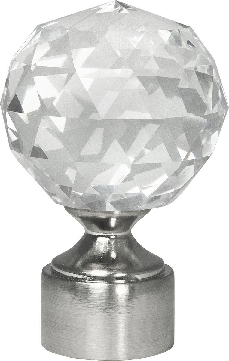 """Наконечник для карниза Уют """"Шар с огранкой"""" 26.21ТО.2508, сталь, диаметр 25 см, 2 шт"""