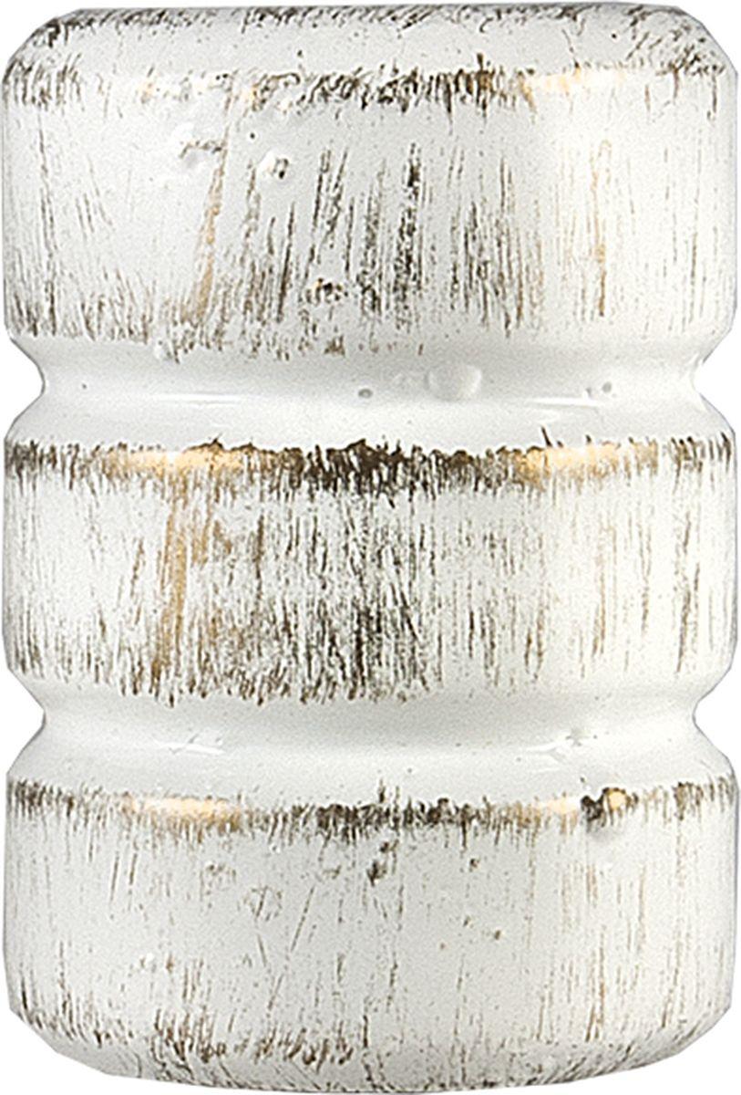 Наконечник для карниза Уют Цилиндр-2 22.21ТО.0295, белый, золото, диаметр 20 см, 2 шт наконечник для карниза уют цилиндр 2 26 21то 0221 шампань диаметр 25 см 2 шт