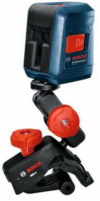 Лазерный нивелир Bosch GLL 2 + MM2, 0601063A01, синий нивелир лазерный dewalt dw 088 k 10 м
