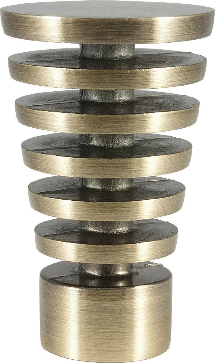 Наконечник для карниза Уют Конус Скан 17.21ТО.2370, бронза, диаметр 16 см, 2 шт наконечник для карниза уют конус скан 26 21то 2302 шоколад диаметр 25 см 2 шт