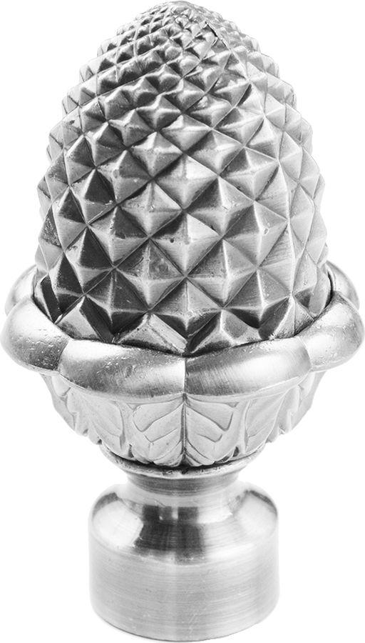 """Наконечник для карниза Уют """"Кедр"""" 26.21ТО.1909, хром, диаметр 25 см, 2 шт"""