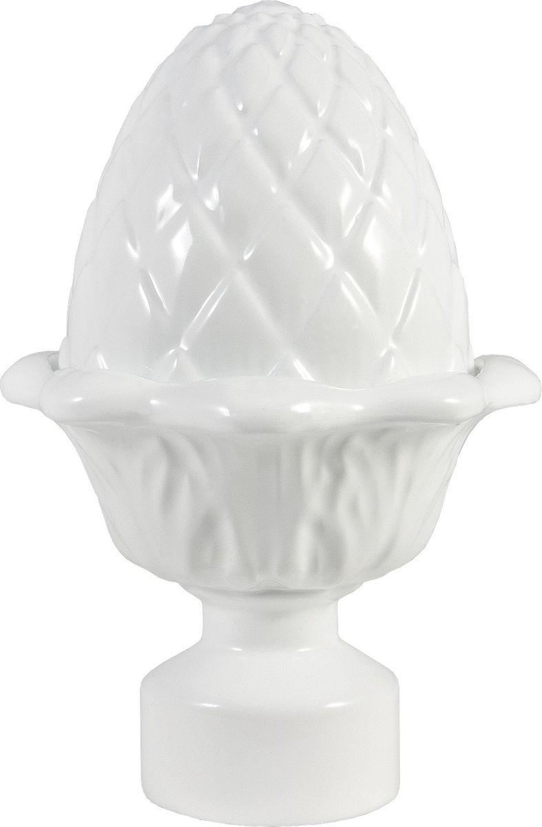 """Наконечник для карниза Уют """"Кедр"""" 26.21ТО.1904, белый, диаметр 25 см, 2 шт"""