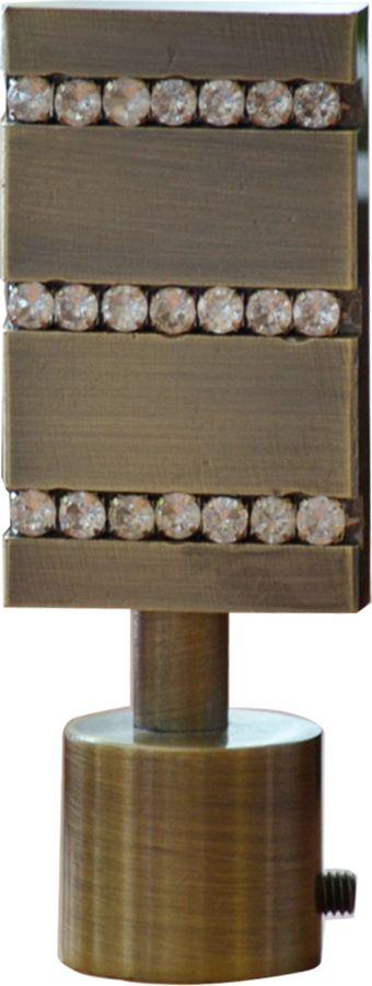 """Наконечник для карниза Уют """"Домино"""" 26.21ТО.3270, бронза, диаметр 25 см, 2 шт"""